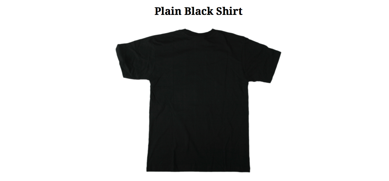 Plain Black Shirt
