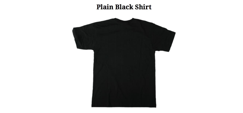 Plain Black Shirt