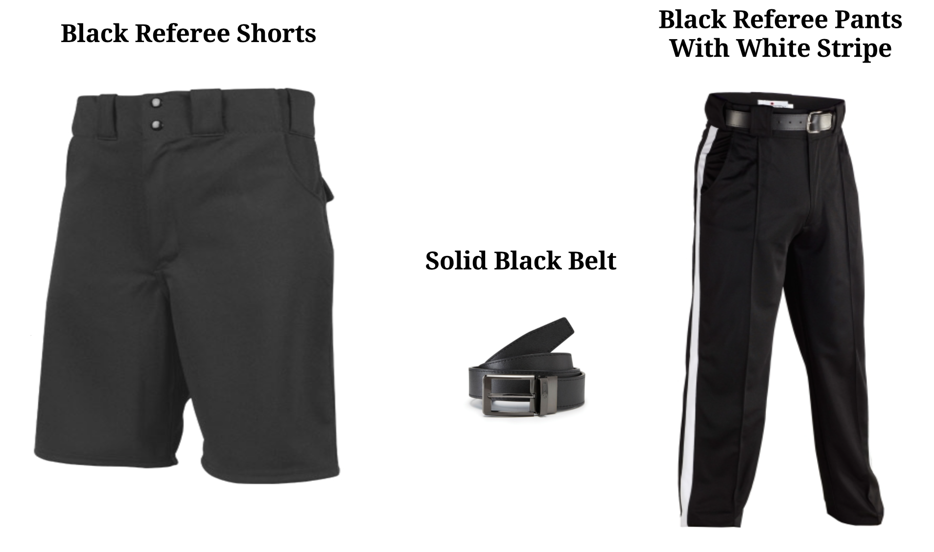 Referee Pants and Belt